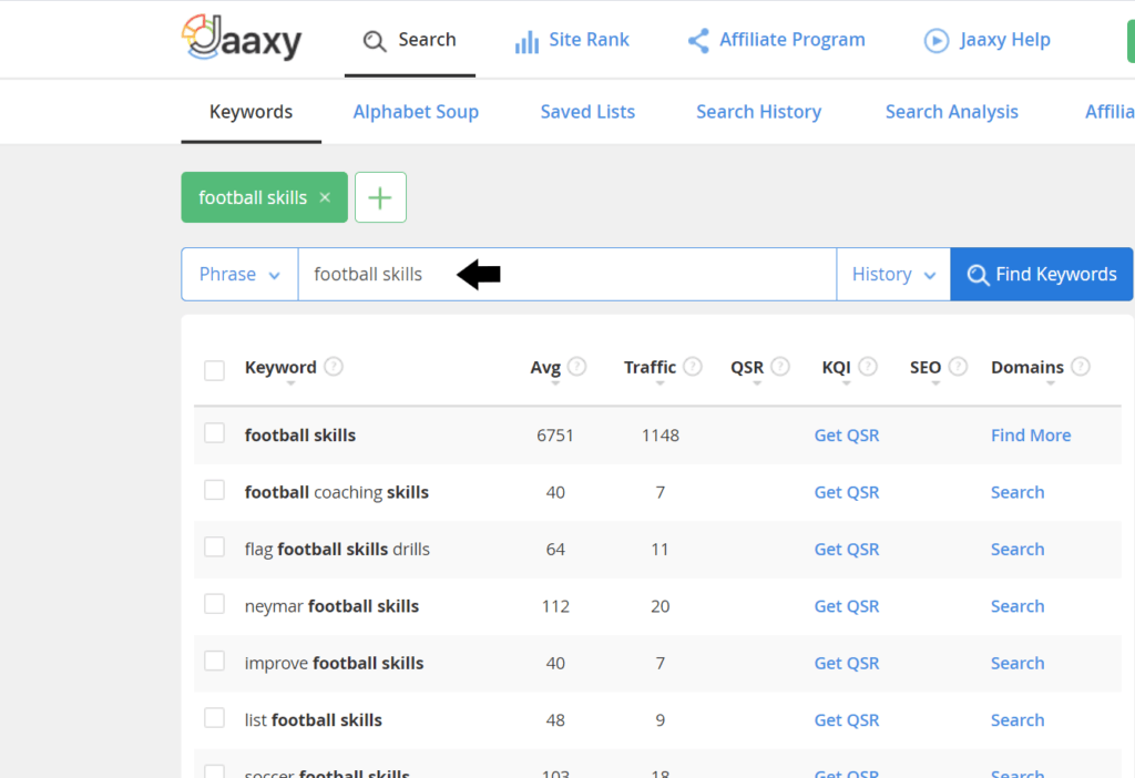 What is the Jaaxy Keyword research tool- Jaaxy Keyword results