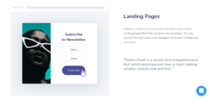 Elastic Email Landing pages